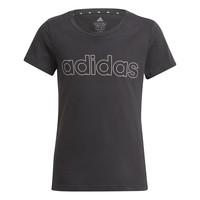 Clothing Girl Short-sleeved t-shirts adidas Performance PLAKAT Black