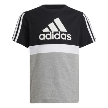 Clothing Boy Short-sleeved t-shirts adidas Performance MOULITA Grey / Black