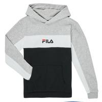 Clothing Boy Sweaters Fila CAMILLA Black / Grey