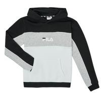 Clothing Girl Sweaters Fila POLLY Black / Grey