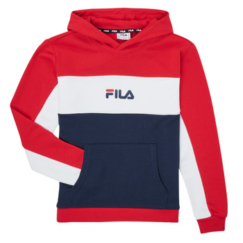 Clothing Girl Sweaters Fila POLLY Red / Marine