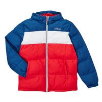 Clothing Boy Duffel coats Fila BELOMA Red / Marine