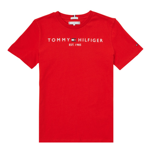 Clothing Boy Short-sleeved t-shirts Tommy Hilfiger SELINERA Red