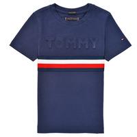 Clothing Boy Short-sleeved t-shirts Tommy Hilfiger ELEONORE Marine