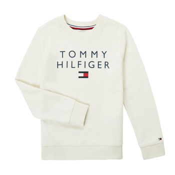 Clothing Boy Sweaters Tommy Hilfiger HERTINA White