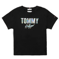 Clothing Girl Short-sleeved t-shirts Tommy Hilfiger SAMIA Black