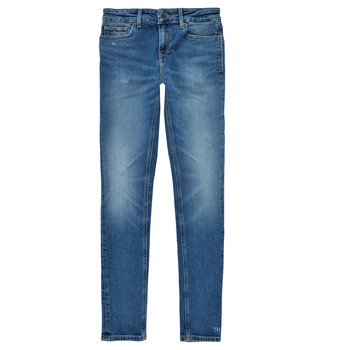 Clothing Girl Skinny jeans Tommy Hilfiger JEANNOT Blue