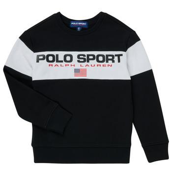Clothing Boy Sweaters Polo Ralph Lauren SIMEON Black