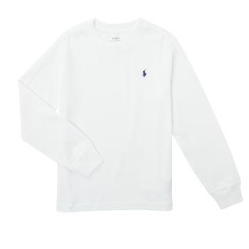 Clothing Boy Long sleeved tee-shirts Polo Ralph Lauren KEMILO White