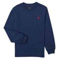 Clothing Boy Long sleeved tee-shirts Polo Ralph Lauren KEMILO Marine