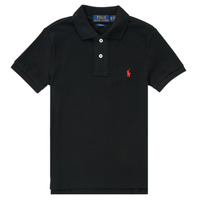 Clothing Boy Short-sleeved polo shirts Polo Ralph Lauren HOULIA Black