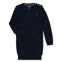 Clothing Girl Short Dresses Polo Ralph Lauren RURBE Marine