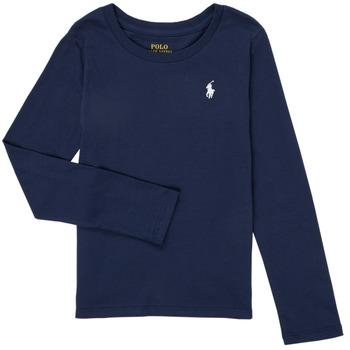 Clothing Girl Long sleeved tee-shirts Polo Ralph Lauren TENINA Marine