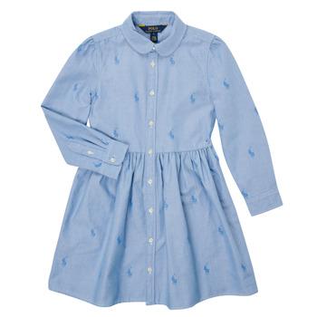 Clothing Girl Short Dresses Polo Ralph Lauren KATINA Blue