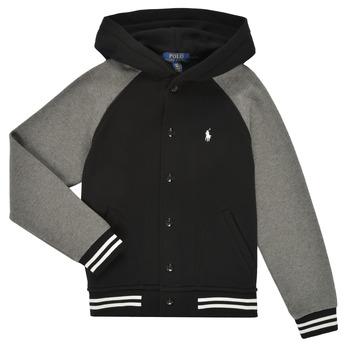 Clothing Boy Sweaters Polo Ralph Lauren DENINO Black / Grey