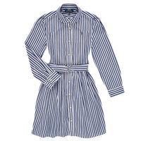 Clothing Girl Short Dresses Polo Ralph Lauren LIVIA Marine / White