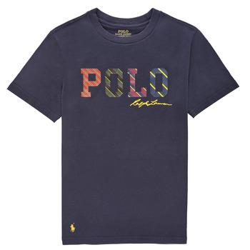 Clothing Boy Short-sleeved t-shirts Polo Ralph Lauren COLLINA Marine