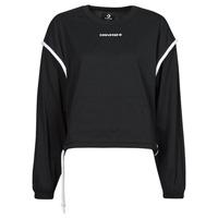 Clothing Women Sweaters Converse LONG SLEEVE JERSEY CREW Black