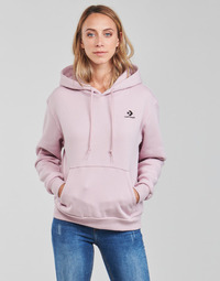 Clothing Women Sweaters Converse WOMENS EMBROIDERED STAR CHEVRON PULLOVER HOODIE BB Purple