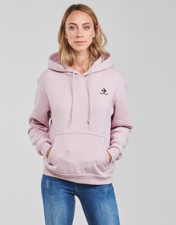 Converse WOMENS EMBROIDERED STAR CHEVRON PULLOVER HOODIE BB