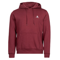 Clothing Men Sweaters Converse EMBROIDERED STAR CHEVRON PULLOVER HOODIE BB Bordeaux