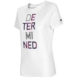 Clothing Women Short-sleeved t-shirts 4F TSD018 White