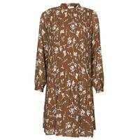 Clothing Women Short Dresses Esprit PER CHIFFON PRI Brown