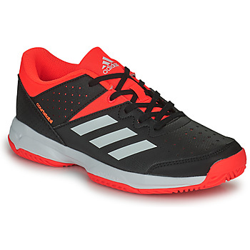 Shoes Children Indoor sports trainers adidas Performance COURT STABIL JR Black / Red