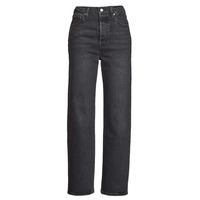 Clothing Women Straight jeans Levi's RIBCAGE STRAIGHT ANKLE Grey / Dark
