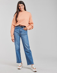 Clothing Women Straight jeans Levi's RIBCAGE STRAIGHT ANKLE Blue