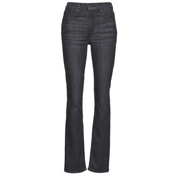 Clothing Women Straight jeans Levi's 725 HIGH RISE STRAIGHT Black