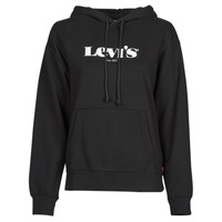 Clothing Women Sweaters Levi's GRAPHIC STANDARD HOODIE Black