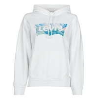 Clothing Women Sweaters Levi's GRAPHIC STANDARD HOODIE White