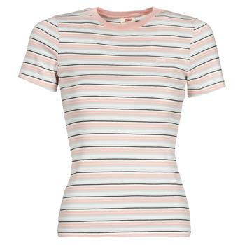 Clothing Women Short-sleeved t-shirts Levi's SS RIB BABY TEE Multicolour