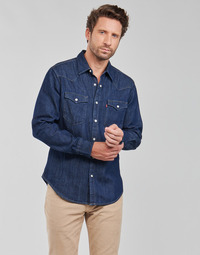 Clothing Men Long-sleeved shirts Levi's BARSTOW WESTERN STANDARD Blue