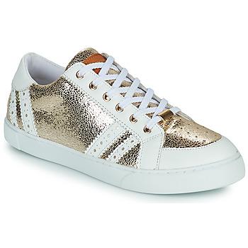 Shoes Women Low top trainers Les Tropéziennes par M Belarbi SUZIE Gold / White