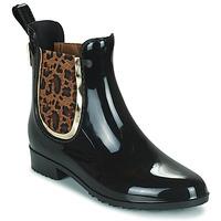 Shoes Women Wellington boots Les Tropéziennes par M Belarbi RAINBOO Black / Leopard