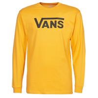 Clothing Men Long sleeved tee-shirts Vans VANS CLASSIC LS Yellow / Black