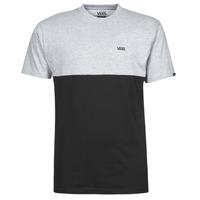 Clothing Men Short-sleeved t-shirts Vans COLORBLOCK TEE Grey / Black