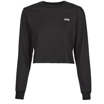 Clothing Women Long sleeved tee-shirts Vans JUNIOR V LS CROP Black
