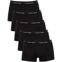 Underwear Men Boxer shorts Calvin Klein Jeans 5 Pack Low Rise Trunks black