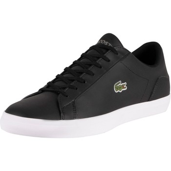 Shoes Men Low top trainers Lacoste Lerond BL21 1 CMA Leather Trainers black
