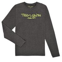 Clothing Boy Long sleeved tee-shirts Teddy Smith TICLASS3 ML Grey
