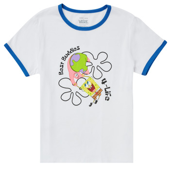 Clothing Girl Short-sleeved t-shirts Vans VANS X SPONGEBOB BEST BUDDIES RINGER White