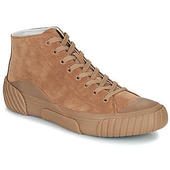 Shoes Men Hi top trainers Kenzo TIGER CREST HIGH TOP SNEAKERS Camel