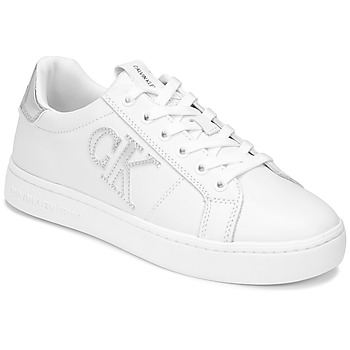 Shoes Women Low top trainers Calvin Klein Jeans CUPSOLE LACEUP White / Silver