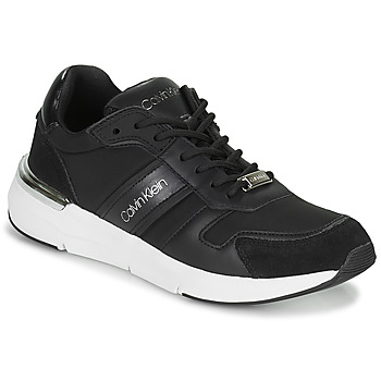 Shoes Women Low top trainers Calvin Klein Jeans FLEXRUNNER MIXED MATERIALS Black / Silver
