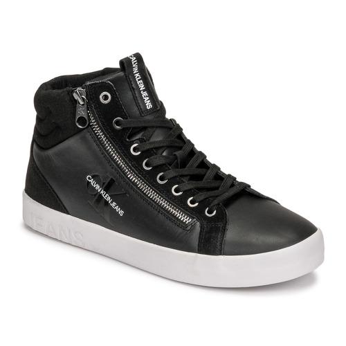 Shoes Men Hi top trainers Calvin Klein Jeans VULCANIZED MID LACEUP Black
