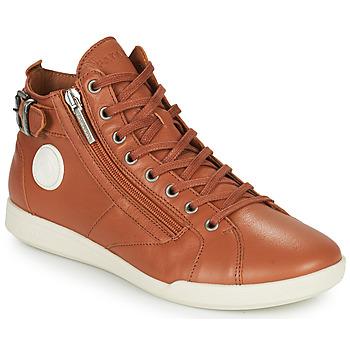 Shoes Women Hi top trainers Pataugas PALME Camel