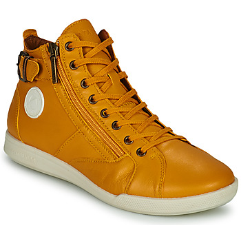 Shoes Women Hi top trainers Pataugas PALME Ocre tan